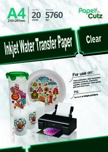 Water Slide Decal Paper A4 INKJET Waterslide Transfer Paper