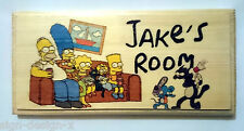 Simpsons PERSONALISED Plaque / Sign / Gift - Cartoon Door Bedroom Wall Hanging