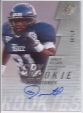jarett dillard rookie rc auto autograph rice owls college spx #/99 2009