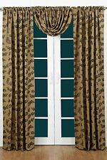 """Pine Cone Burlap Curtain Panel Set by Victorian Heart - 84"""" x 40"""" Panels"""