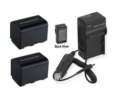2 Batteries + Charger for Sony HDR-CX6 HDR-CX7 HDR-CX11 HDR-CX12 HDR-CX105