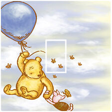 WINNIE THE POOH CLASSIC BALLOON - LIGHT SWITCH STICKER / COVER - KIDS BEDROOM