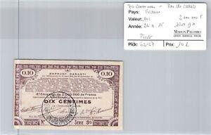 Good Pas De Calais - 10 Cents 23/4/15 - 2000000 F Series GD