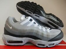 MENS NIKE AIR MAX 95 ID GREY-WHITE-BLACK-DARK GREY SZ 10 [818592-995]