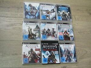 Assassin's Creed Playstation 3 Spiel zur Auswahl II III IV Brotherhood Rogue PS3