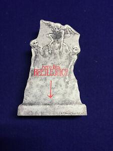 Halloween Beetlejuice Tabletop Tombstone New Wooden Here Lies Beetlejuice