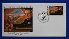 Marshall Islands (251) 1990 WWII: Churchill Becomes Prime Minister Official FDC