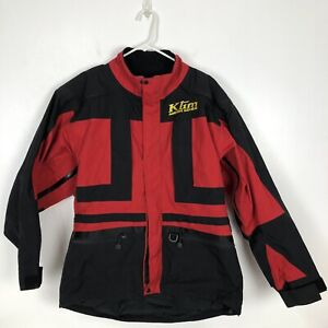 Klim Mens Jacket Coat Aggressive Sled Wear Snowmobile Black Red Gore-Tex Large