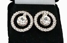Elegant Round Crystal Stud Earring with Large Crystal Centre (faux diamaond)