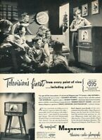 1949 Magnavox TV Children Vintage Original Advertisement Print Art Ad K97