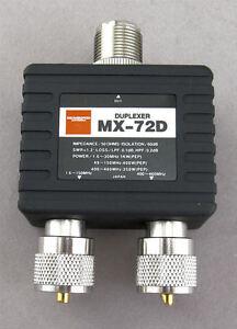 Diamond MX72D Duplexer (1.6-30/140-150/400-460MHz) NEW !