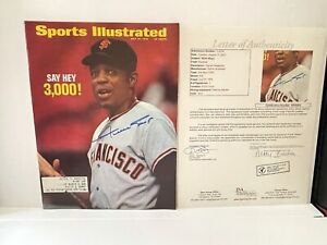 1970 Sports Illustrated Signed Autographed By Willie Mays JSA Letter