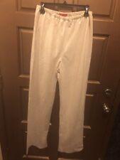 Shamask Ivory/Gold Shimmer Linen Pants - NWT Size 2