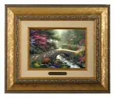 Thomas Kinkade Bridge of Faith - Brushwork (Gold Frame)