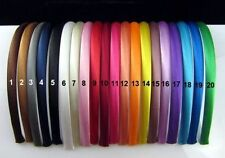 Plain Satin Alice Bands Pack of 6 Hairbands Headbands Alice Bands UK supplier