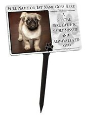 Your Photo Personalised For Pet, Dog, Cat Memorial Plaque & Stake. garden grave