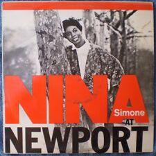 "NINA SIMONE AT NEWPORT-TROUBLE IN MIND  ""RARE OZ"" 33 RPM LP 12"""