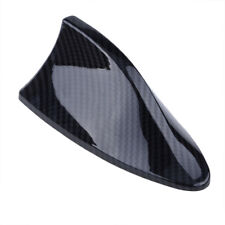 Carbon Shark Fin Roof Antenna Aerial FM/AM Radio Signal Decoration Car Universal
