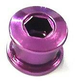 Set of Single Speed Track Fixie Fixy Chainring Bolts (5) Stud Anodized PURPLE