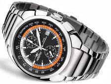 FIREFOX Uhr AVIATOR FFS70 schwarz orange Herrenuhr Chronograph Edelstahl 10 ATM