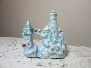 Vintage ceramic fish tank aquarium decor castle, arch