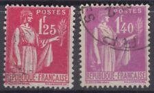 FRANCE :  TYPE PAIX 1F25 N° 370 & 1F40 N° 371 OBLITERATIONS CHOISIES
