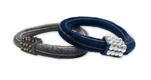 Mia Rhinestone Elastic Hair Rubber Bands, Thick, Pretty Hair Ties + Bracelets
