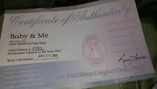 Lee Middleton Baby and Me skin tone light #1052 Reva Shick April 25th 2002
