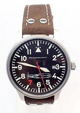 Aristo Messerschmitt me109-42r7 Cuero Marrón Negro 42mm Aviador Reloj De Hombre