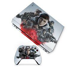 Gears of War 5  Xbox One X Skin SEE VIDEO Custom made Vinyl Sticker Decals, Uk
