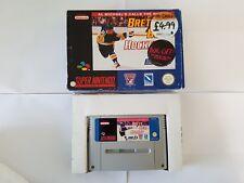 Brett Hull Hockey - SNES Super Nintendo - Boxed PAL & box protector