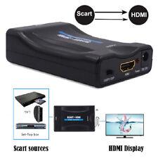Scart Input auf HDMI Output Adapter Stecker Konverter Wandler Scaler Converter