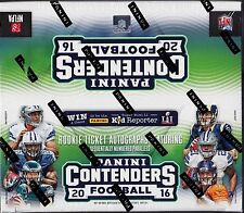 2016 Panini Contenders Football sealed retail box 24 packs of 8 cards