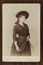 Lucile Chassaing Actrice Théâtre Cabinet card Photo Nadar Paris