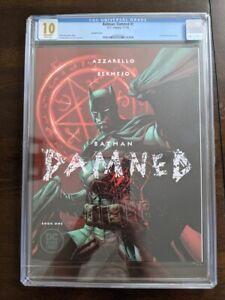 CGC 10 BATMAN: DAMNED #1 DC COMICS 2018 JIM LEE VARIANT BLACK LABEL AZZARELLO