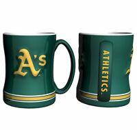Oakland Athletics 14oz Sculpted Relief Mug MLB - Boelter Brands