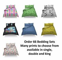 Exclusive Order 66 Novelty Designs Duvet Quilt Cover Single Bedding Set Bed New
