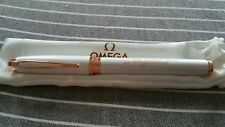 Omega ..Ladymatic Rose Gold and Pearl Finish Pen with Pouch.