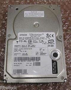"""Hitachi Ultrastar 3.5"""" 10K 146GB FC - AL Fibre Channel Hard Drive HDD 08K0402"""