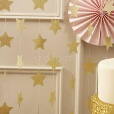 13Feet GOLD 7cm Star Garland Bunting Christmas Home Party Hanging Decoration
