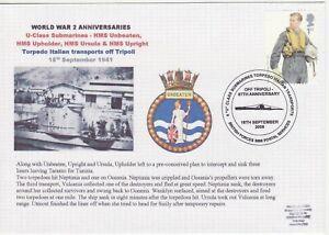 GB Stamps Navy Souvenir Cover WWII Anniversaries U Class submarines torpedo 2008
