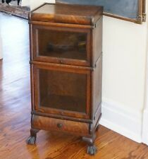 Petite barrister bookcase. Half size. Clawfoot. Rare! MACEY EMPIRE 1/2 STACK