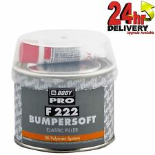 HB Body 222 Bumpersoft Car Body Filler Black Putty For Plastic Bumpers 250g New