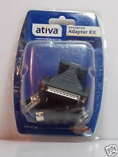 4 PIECES ATIVA ASSORTED ADAPTER KIT EMPOWERING TECHNOLOGY ITEM 937-130