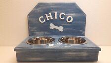Futterbar Hundebar Futterstation Napfhalter mit Spritzschutz Wunschname 750 ml