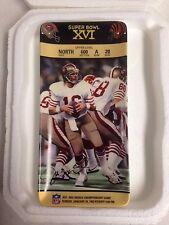 Joe Montana Super Bowl Xvi Collector Ticket Plate Bradford Exchange New in Box