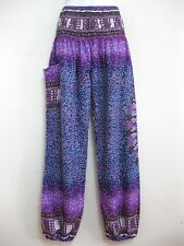 Ladies Harem Pants Baggy Bohemian Boho Hippie Aladdin Yoga Genie Trousers HSD-PU