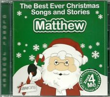 MATTHEW - THE BEST EVER CHRISTMAS SONGS & STORIES PERSONALISED CD
