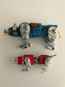 Vintage Original 1981 Bandai Voltron Diecast Blue and Red Lions Toy GB-36 Japan