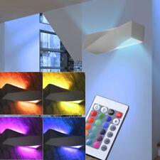 LED Mural Lampe à intensité variable RGB télécommande Chambre à coucher haut bas